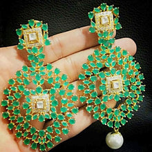 Artistically Crafted Stone Studded Earrings