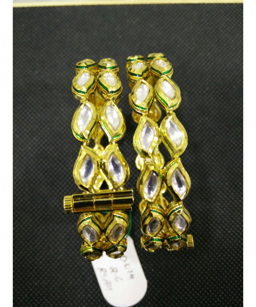 Traditional Kundan Bangle Pair