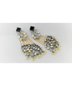 Victorian Style Kundan Work Danglers Earrings