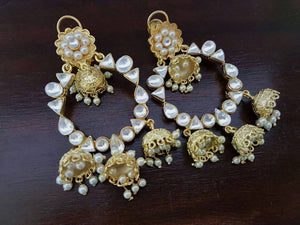 Kundan And Pearls Jhumka