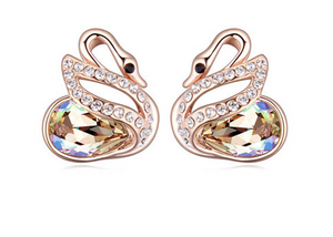 Elegant Rose Gold Designer Earrings Studds