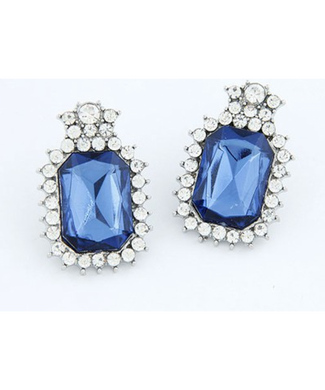 Tanzanite Look Big Studds Earrings
