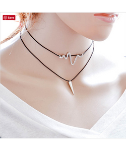 Double Trouble Choker Necklace