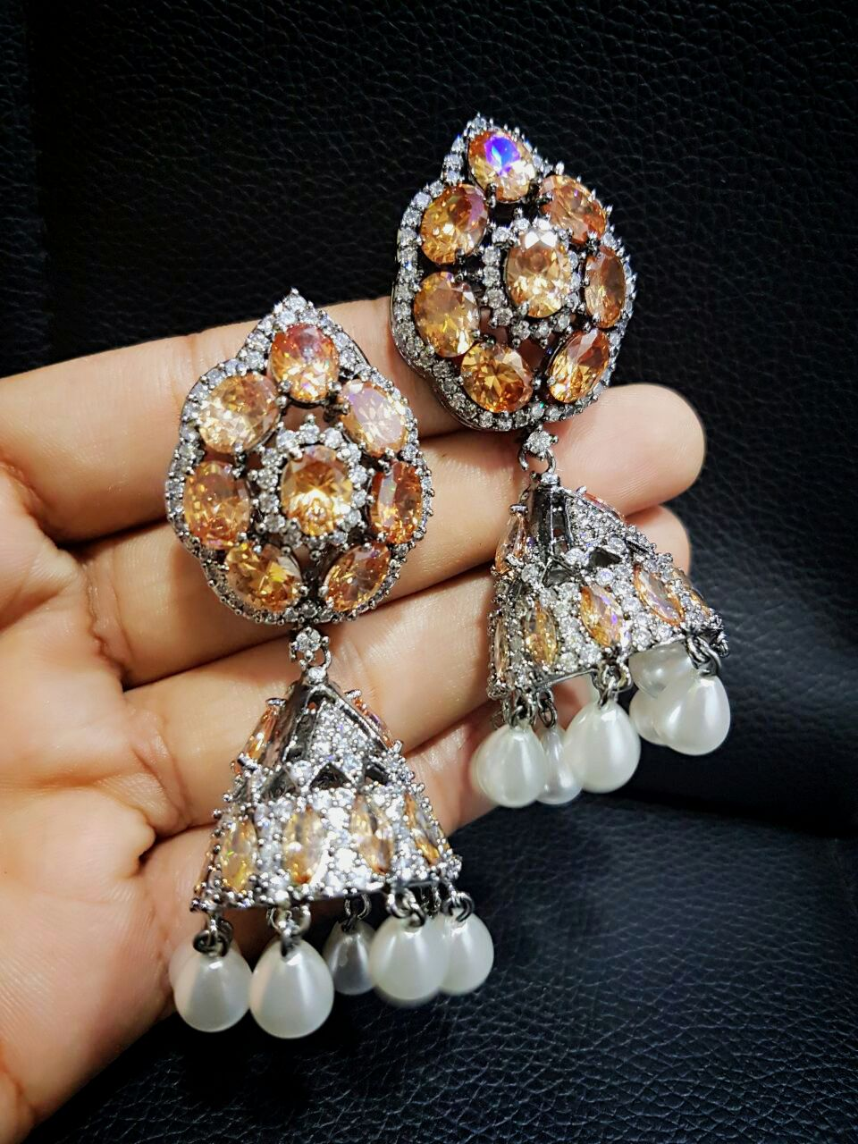 Designer Colorful Drop Earrings