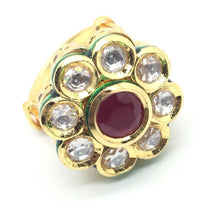 Bridal Kundan Ruby Ring