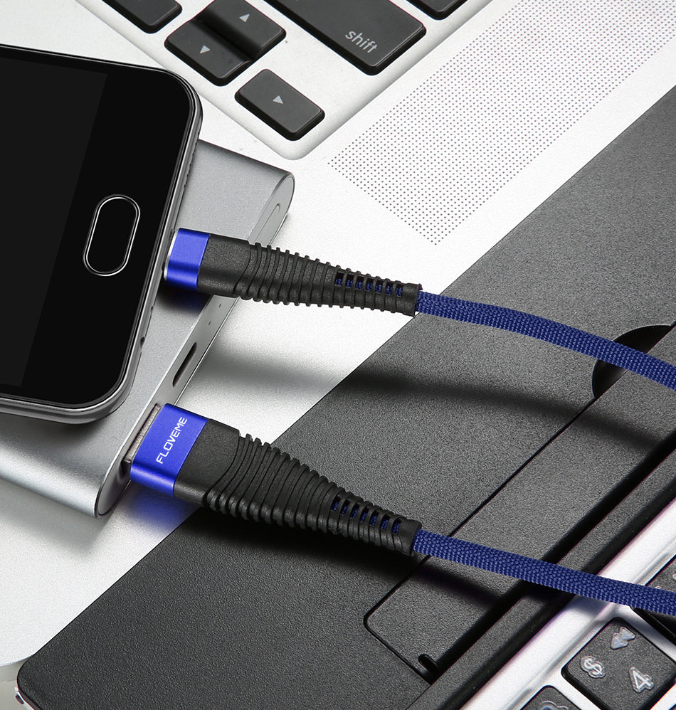 Samsung & Nokia Hi-Tensile USB Charging Cable Blue