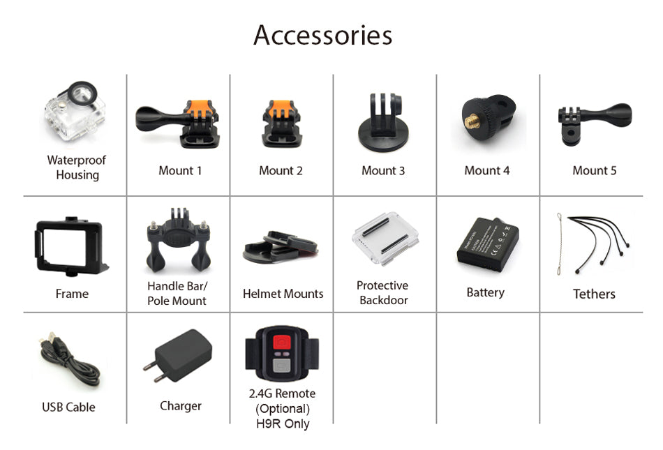 Cheap 4K Action Camera Accessories