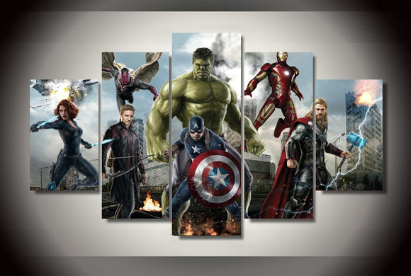 Avengers 5 Children's Bedroom Decor Bachelor Barn