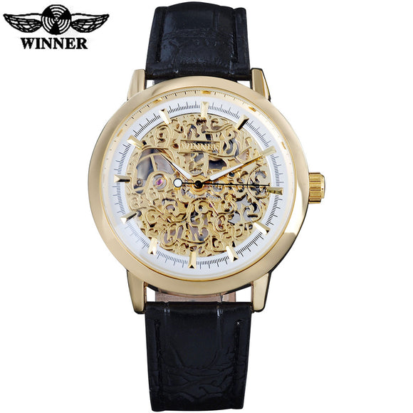 T-Winner Classic Golden Skeleton Watch Bachelor Barn