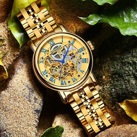 Binger Role Luxury Gold Automatic Watch