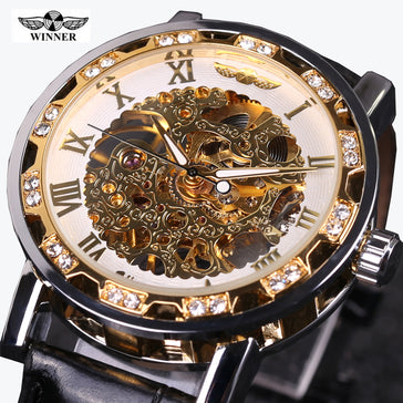 Winner Watch Ultra Luxury Gold Mechanical Mens Watch