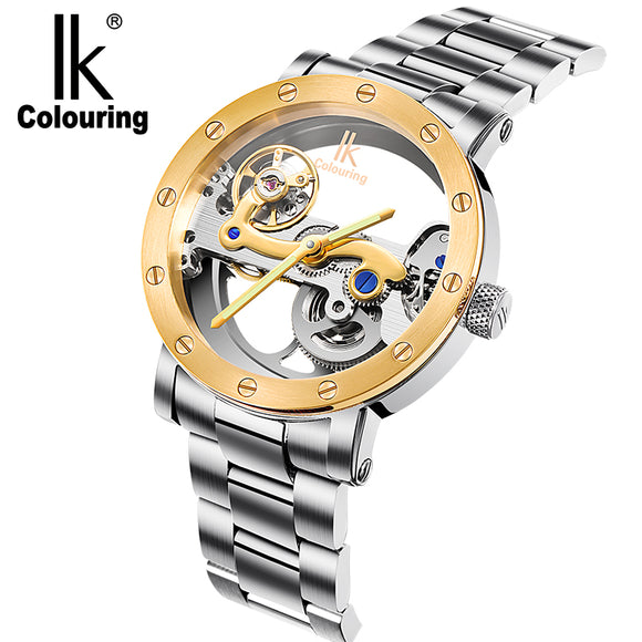 IK Gold Hollow Wristwatch for Men Bachelor Barn