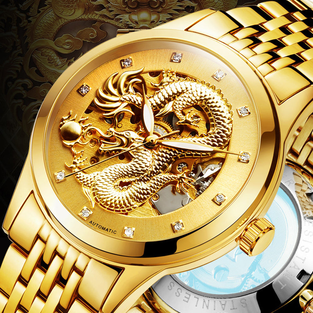 Asian Dragon (Men's Luxury Openwork Watch)