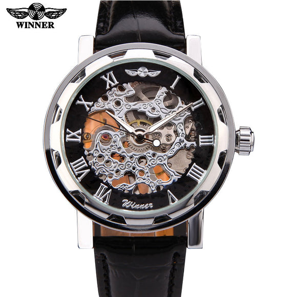 T-Winner Skeleton Mechanical Dress Watch Bachelor Barn
