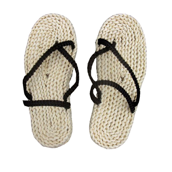 One Piece Straw Sandals