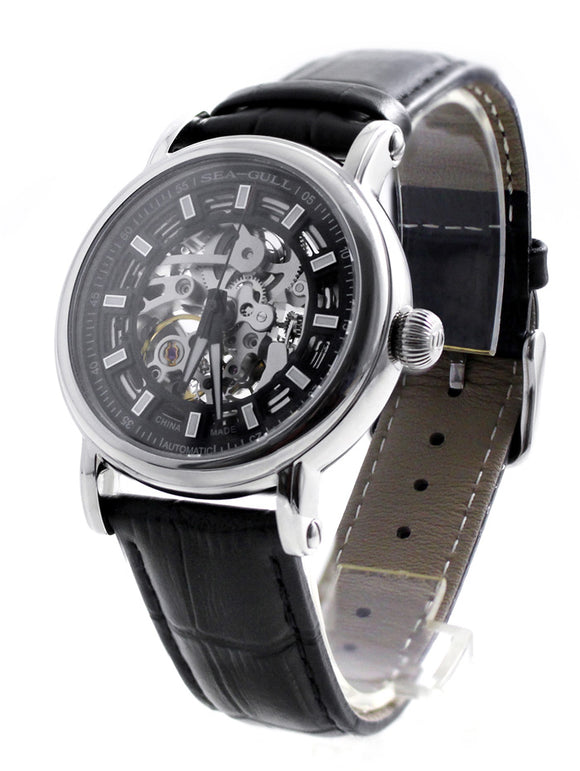 The Seagull 3 Hand Automatic Skeleton Watch