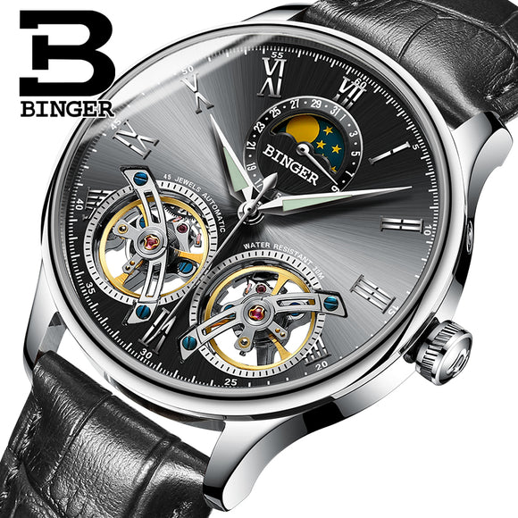 Binger Swiss Sapphire Skeleton Watch Bachelor Barn
