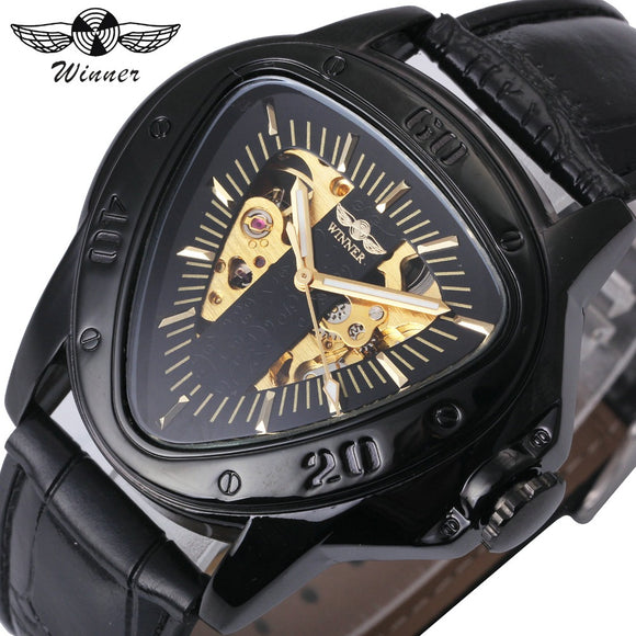 The Black Rubber Triangle Racing Sports Watch