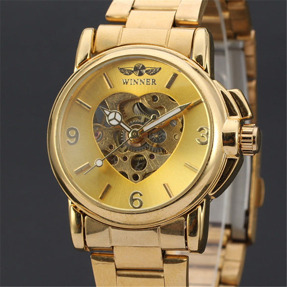 T-Winner Luxurious Golden Watch for Women Bachelor Barn