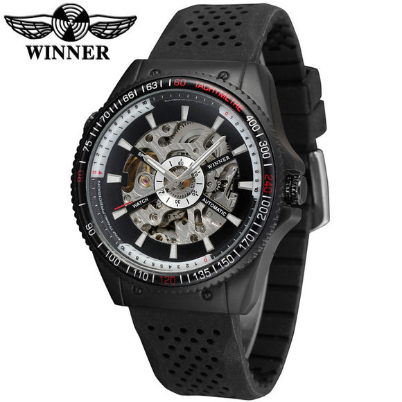 T-Winner Casual Skeleton Watch Bachelor Barn