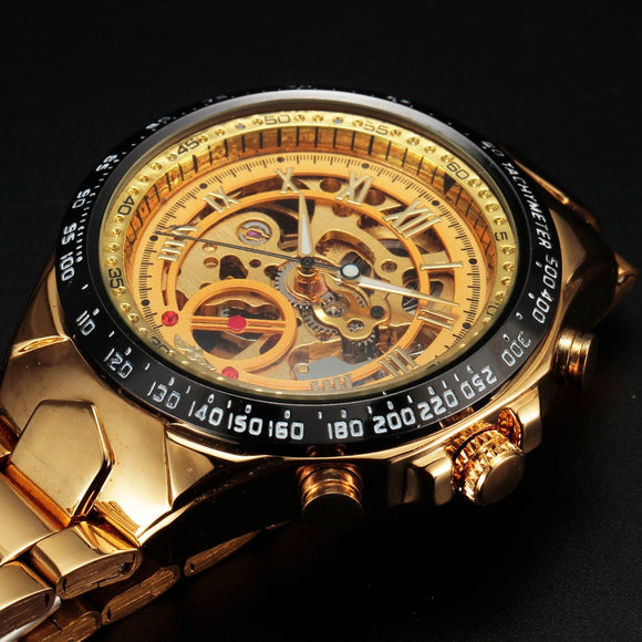 Golden Sport Skeleton Watch Bachelor Barn