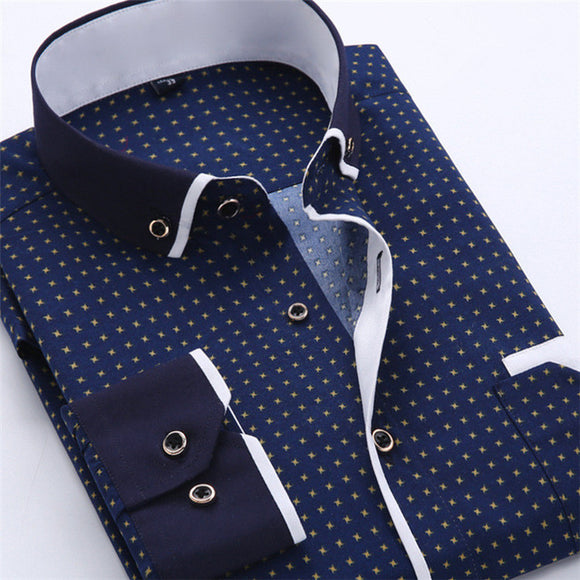 Patterned Dress Shirt Bachelor Barn