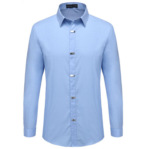 British Style Casual Long Sleeve Slim Fit Shirts-Bachelor Barn