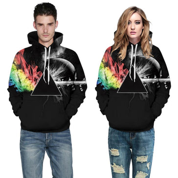 3d Sunlight Refraction Rainbow Hoodie-Bachelor Barn