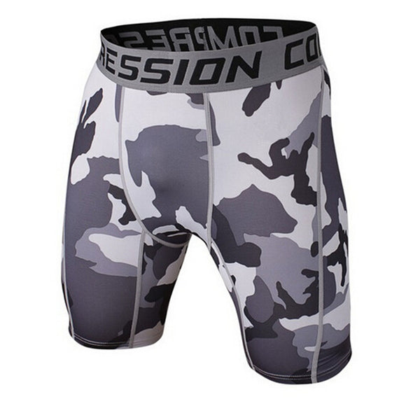 Mens Camo Fighter Compression Shorts