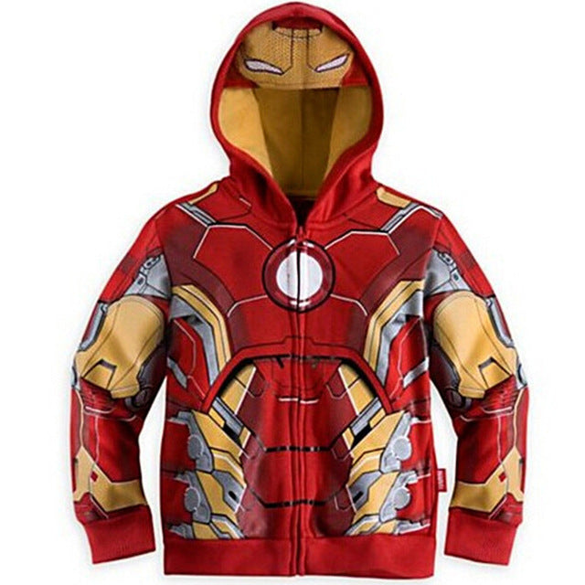 Iron Man Kids Hooded Jumper/Sweater.-Bachelor Barn
