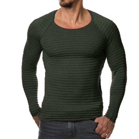 Mens Thin Striped Crossfit Sweater-Bachelor Barn