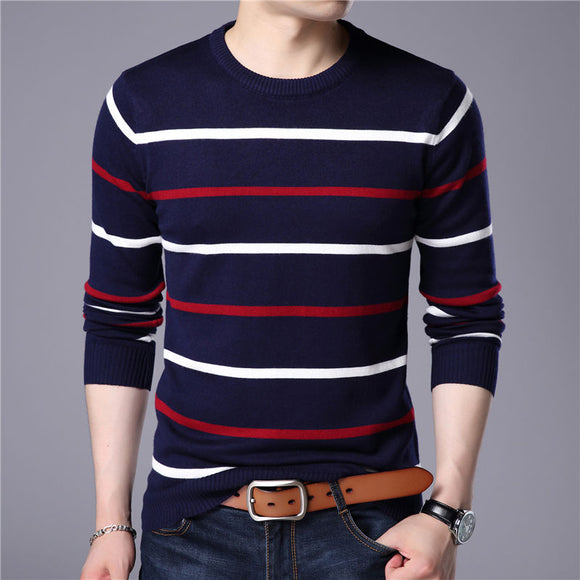 Striped Cashmere Sweater Bachelor Barn