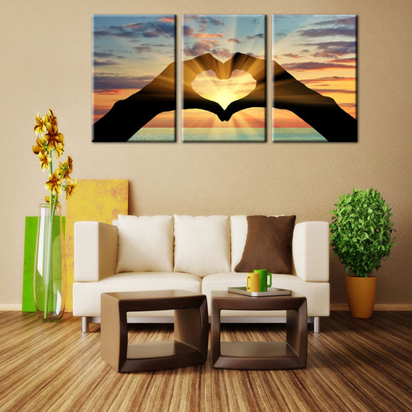 Ocean Hearts Multi Canvas Painting