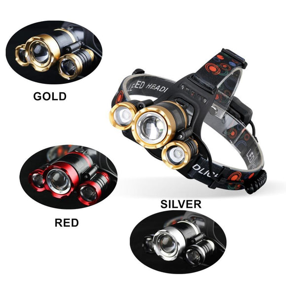 SUPER Bright Tactical LED Head Torch - 15,000 Lumens