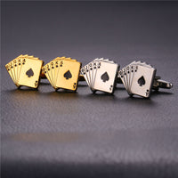 Poker Cards Novelty Cufflinks