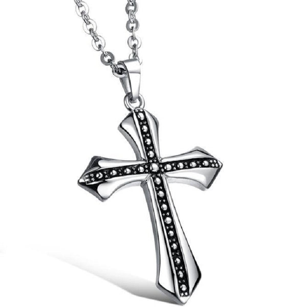 Men's Stainless Steel Cross with metal chain