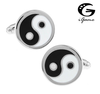 Eight Tri-grams 'Yin Yang' style Cuff Links
