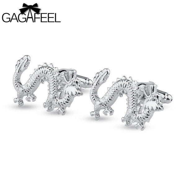 Silver Chinese Dragon Cufflinks