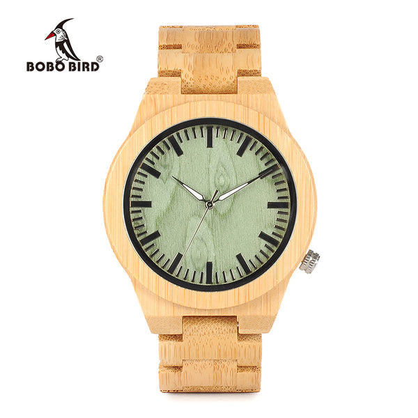 Men's Bamboo Wooden Watch with Bamboo Strap