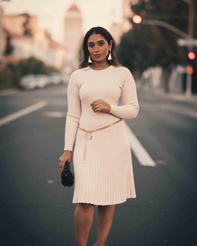 ribbed sweater business casual dress