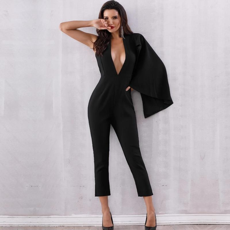 Janelle Deep Cut Jumpsuit