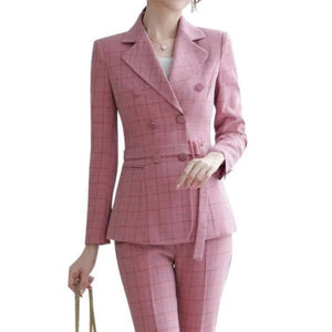 Iris Plaid Pant Suit