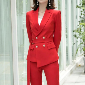 Jamie Belted Pant Suit