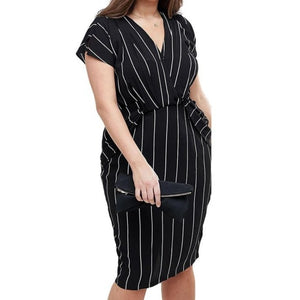 Marissa Pinstripe Sheath Dress +++
