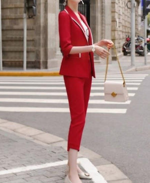 Dylan Cropped Pant Suit