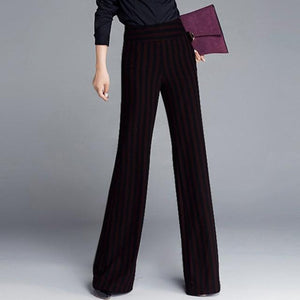 Zaina Striped Wide-Leg Trouser +
