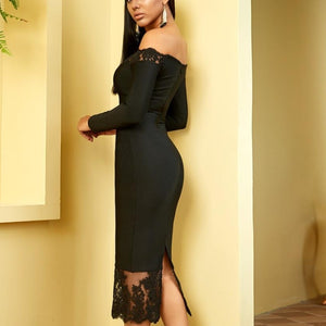 Kiara Lace Black Dress