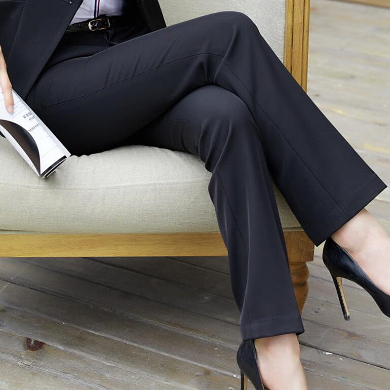Lena Mid-Rise Navy Cigarette Trousers