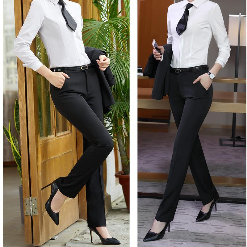Lena Mid-Rise Black Cigarette Trousers