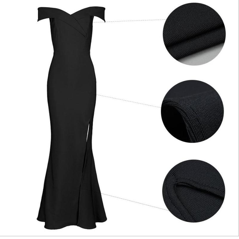 Sydney Bardot High-Slit Gown